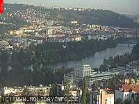 Záběr z webkamery Praha