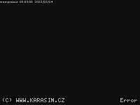 Záběr z webkamery Bystřice nad Pernštejnem