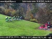Záběr z webkamery Javorník nad Veličkou