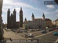Záběr z webkamery Hradec Králové
