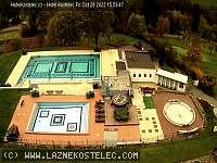Záběr z webkamery Kostelec u Zlína