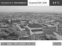 Záběr z webkamery České Budějovice