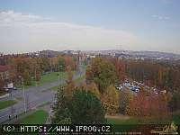 Záběr z webkamery Plzeň